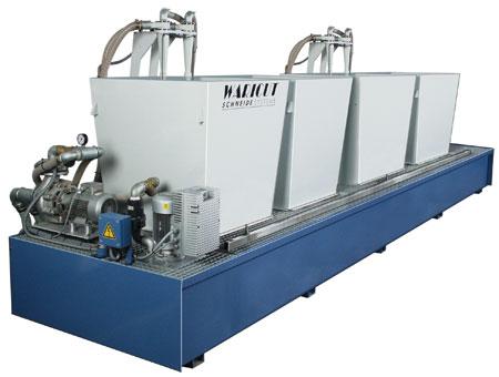 Entschlammungsanlage für Maschinengrößen bis 8.000 x 4.000 mm