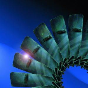 Turbinenflügel aus Titan 3D Zuschnitt